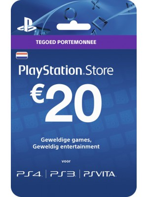20 Euro PSN Gift Card Tegoed PlayStore Store PlayStation Nederland (NL)