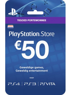 50 Euro PSN Gift Card Tegoed PlayStore Store PlayStation Nederland (NL)